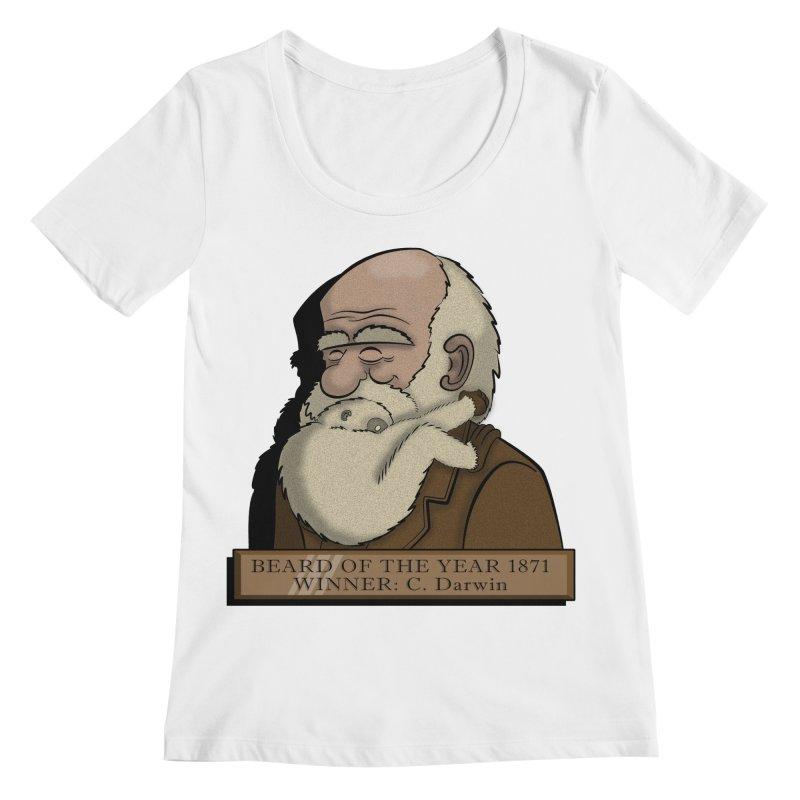 Beard of the Year Women's Scoopneck by JVZ Designs - Artist Shop