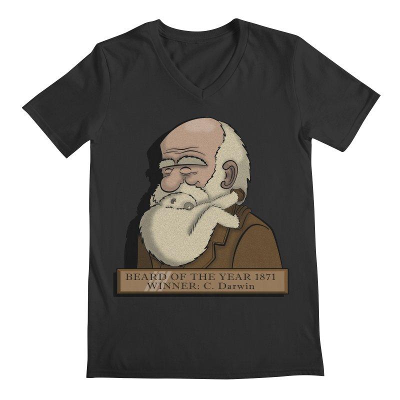 Beard of the Year Men's V-Neck by JVZ Designs - Artist Shop