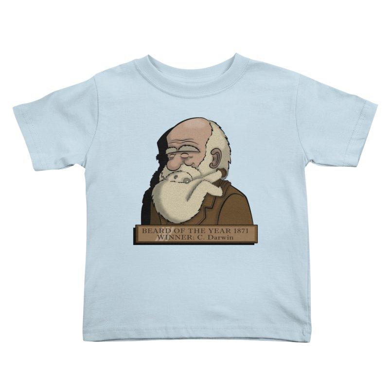 Beard of the Year Kids Toddler T-Shirt by JVZ Designs - Artist Shop