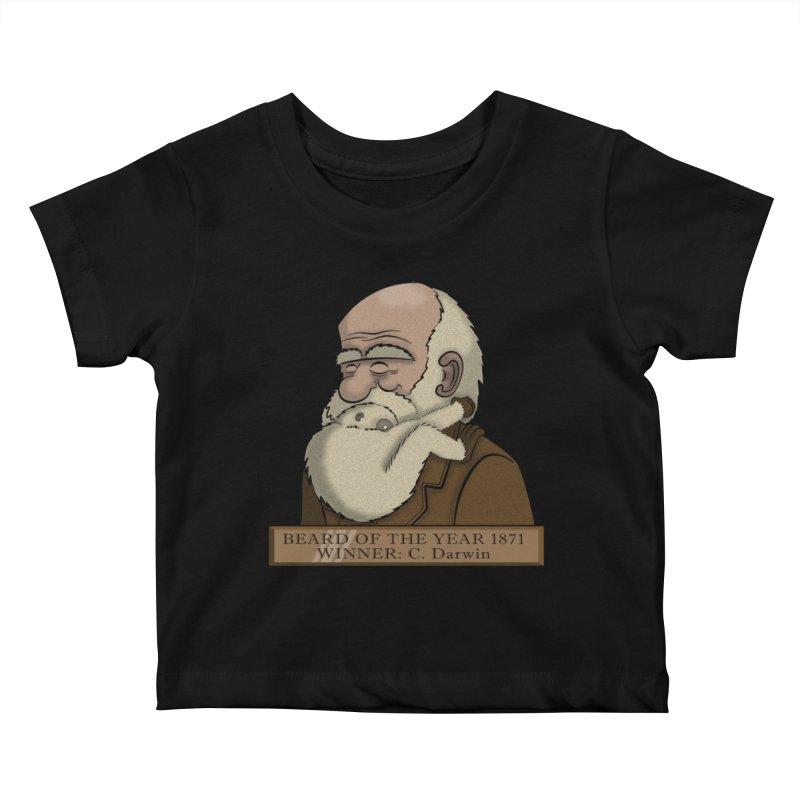 Beard of the Year Kids Baby T-Shirt by JVZ Designs - Artist Shop