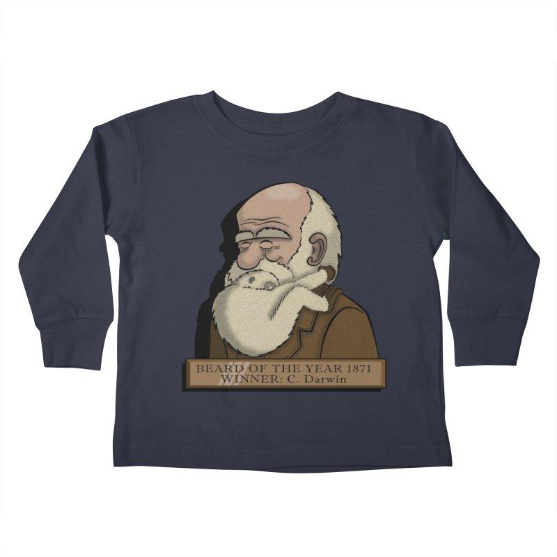 Beard of the Year Kids Toddler Longsleeve T-Shirt by JVZ Designs - Artist Shop