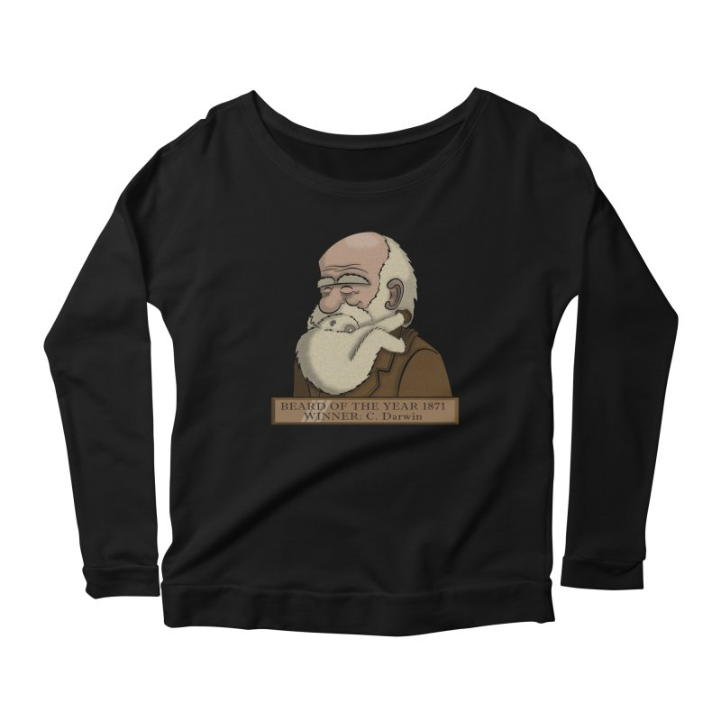 Beard of the Year Women's Longsleeve Scoopneck  by JVZ Designs - Artist Shop