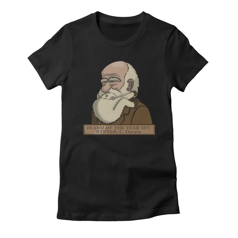Beard of the Year Women's Fitted T-Shirt by JVZ Designs - Artist Shop