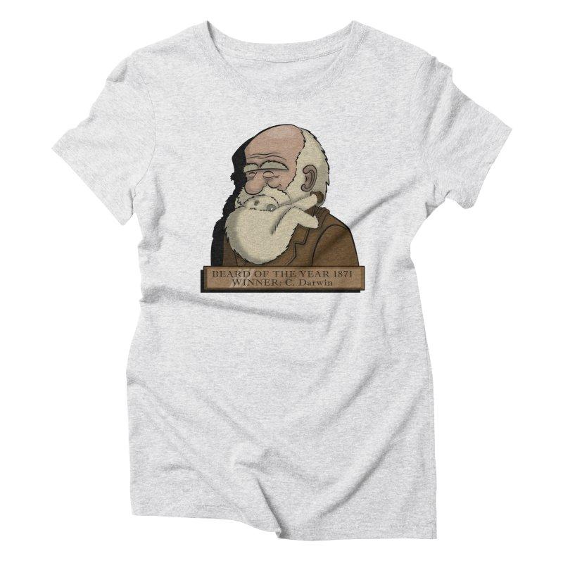 Beard of the Year Women's Triblend T-Shirt by JVZ Designs - Artist Shop