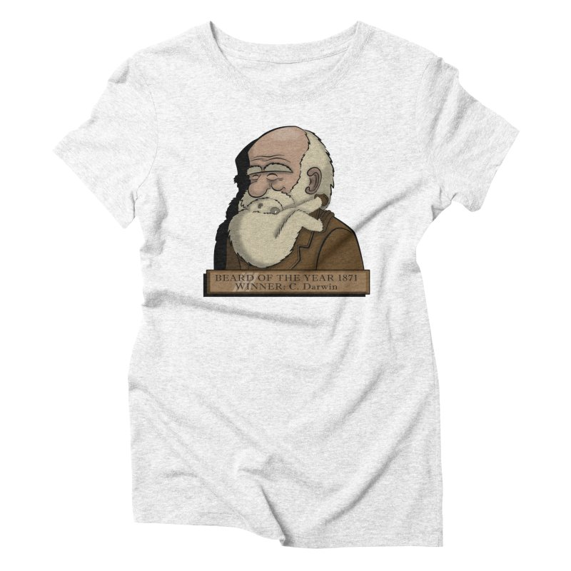 Beard of the Year Women's Triblend T-shirt by JVZ Designs - Artist Shop