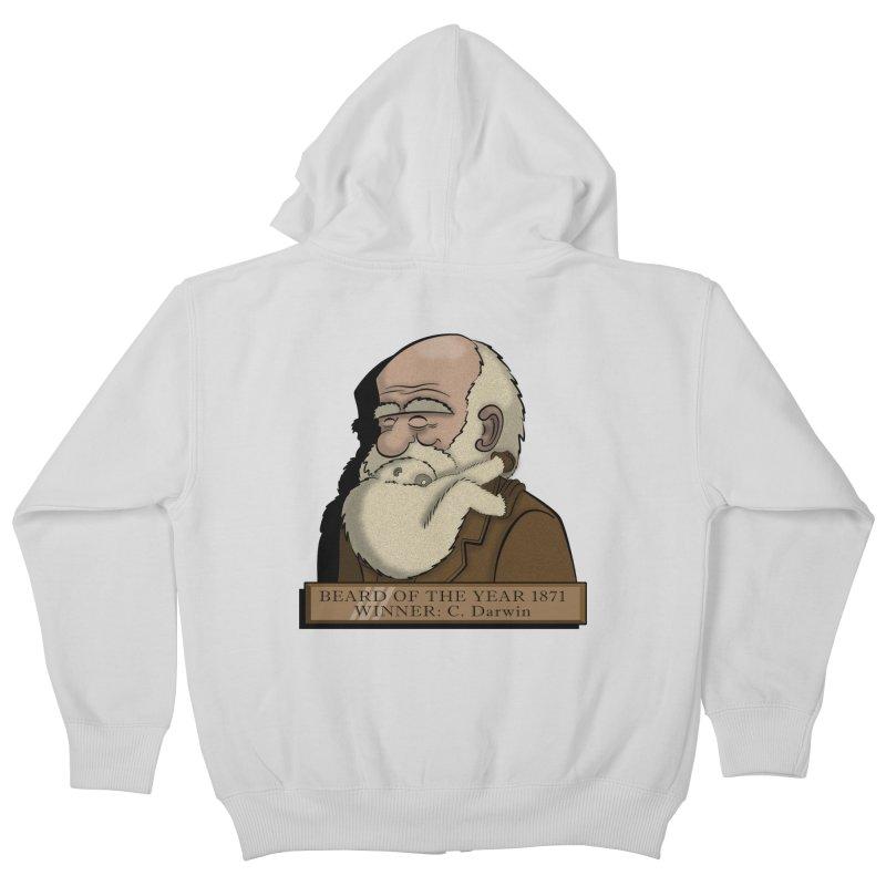 Beard of the Year Kids Zip-Up Hoody by JVZ Designs - Artist Shop