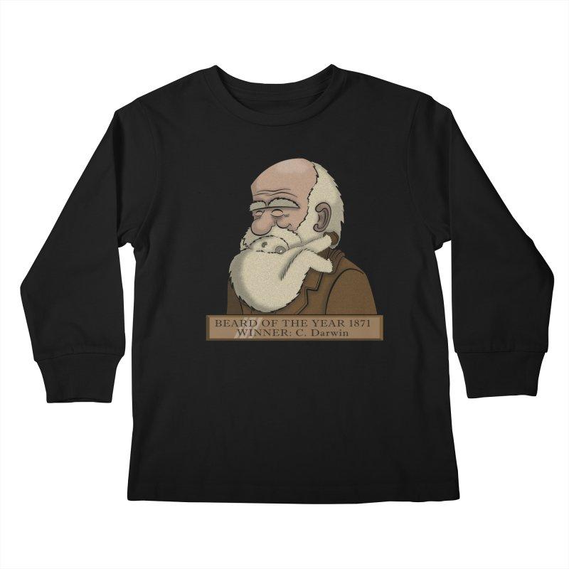 Beard of the Year Kids Longsleeve T-Shirt by JVZ Designs - Artist Shop