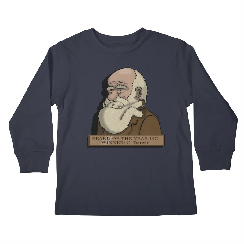 Beard of the Year Kids Longsleeve T-Shirt by JVZ Designs - Artist Shop