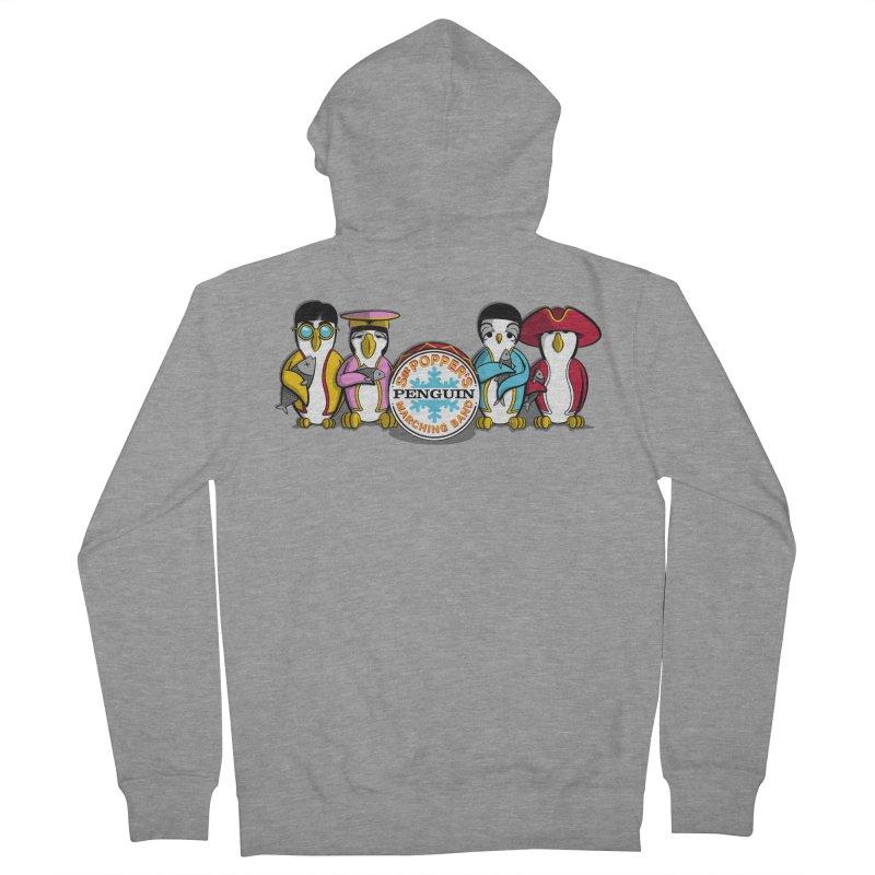 Sgt. Poppers Penguin Marching Band Women's Zip-Up Hoody by JVZ Designs - Artist Shop