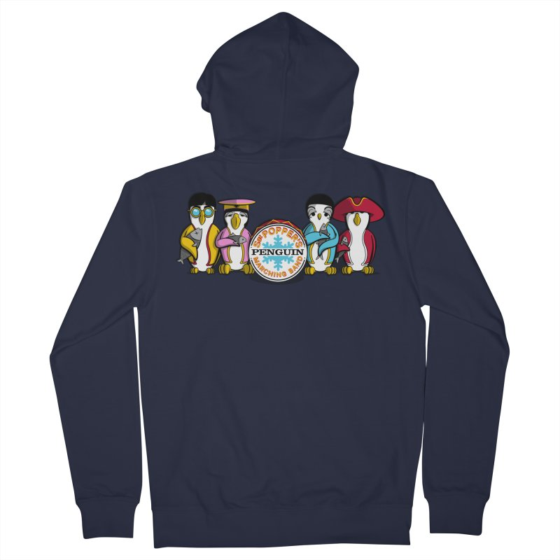 Sgt. Poppers Penguin Marching Band Women's Zip-Up Hoody by JVZ Designs - Artist Shop