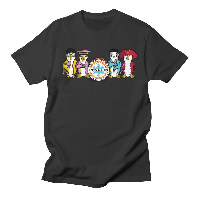 Sgt. Poppers Penguin Marching Band Men's T-shirt by JVZ Designs - Artist Shop