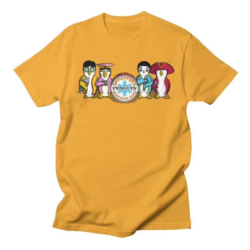 Sgt. Poppers Penguin Marching Band Men's T-Shirt by JVZ Designs - Artist Shop