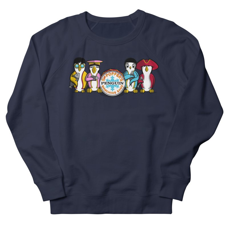 Sgt. Poppers Penguin Marching Band Women's Sweatshirt by JVZ Designs - Artist Shop