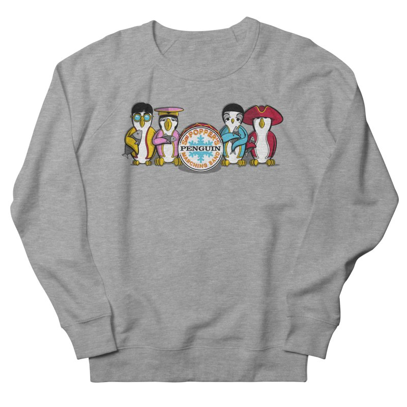 Sgt. Poppers Penguin Marching Band Men's Sweatshirt by JVZ Designs - Artist Shop