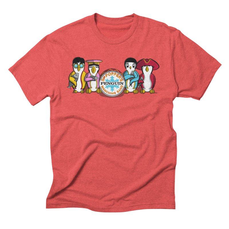 Sgt. Poppers Penguin Marching Band Men's Triblend T-Shirt by JVZ Designs - Artist Shop