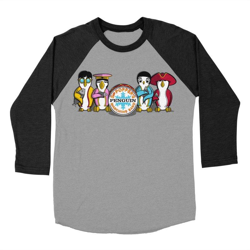 Sgt. Poppers Penguin Marching Band Women's Baseball Triblend T-Shirt by JVZ Designs - Artist Shop