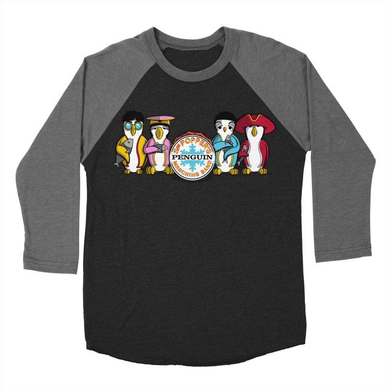 Sgt. Poppers Penguin Marching Band Men's Baseball Triblend T-Shirt by JVZ Designs - Artist Shop