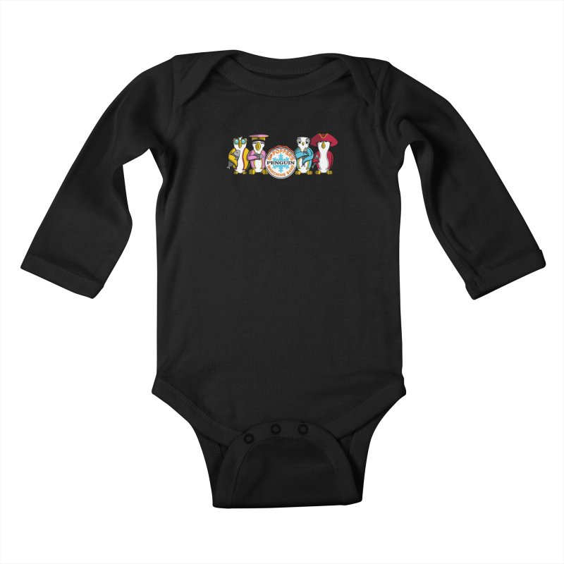 Sgt. Poppers Penguin Marching Band Kids Baby Longsleeve Bodysuit by JVZ Designs - Artist Shop