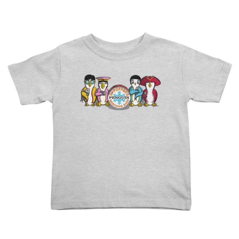 Sgt. Poppers Penguin Marching Band Kids Toddler T-Shirt by JVZ Designs - Artist Shop