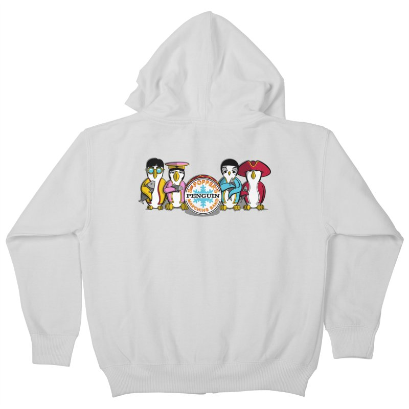 Sgt. Poppers Penguin Marching Band Kids Zip-Up Hoody by JVZ Designs - Artist Shop