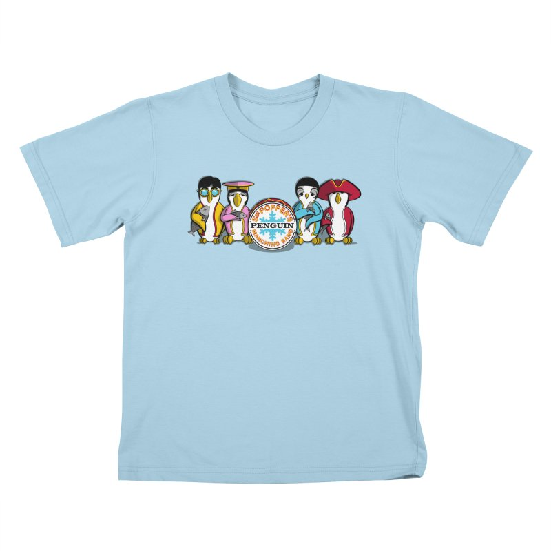 Sgt. Poppers Penguin Marching Band Kids T-shirt by JVZ Designs - Artist Shop