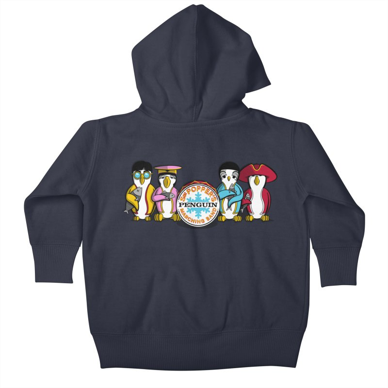 Sgt. Poppers Penguin Marching Band Kids Baby Zip-Up Hoody by JVZ Designs - Artist Shop