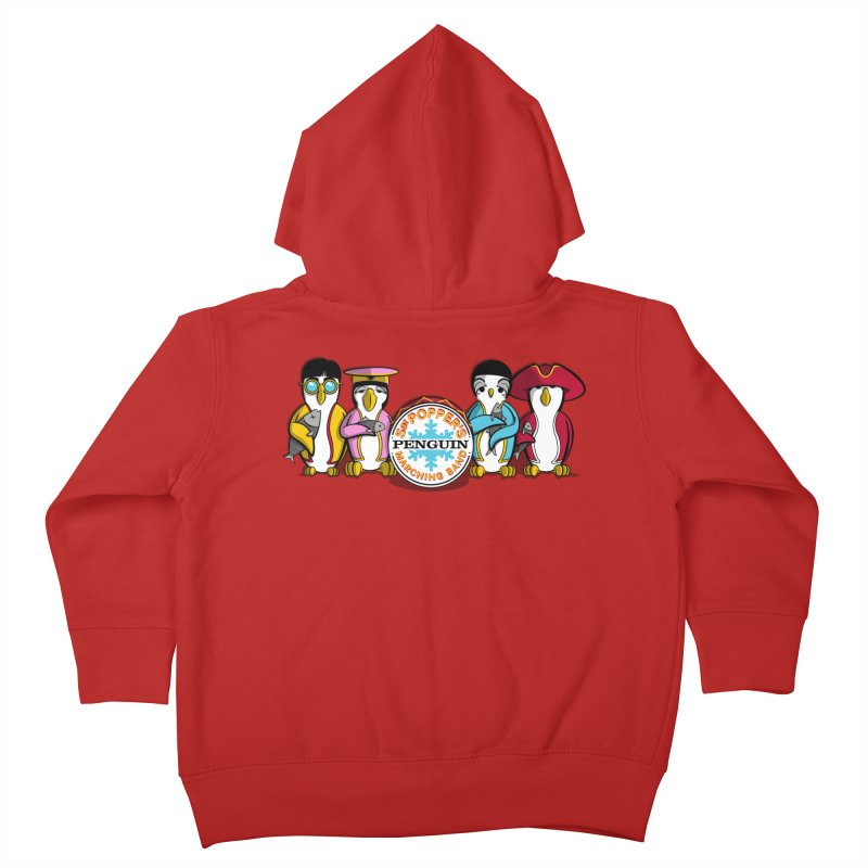 Sgt. Poppers Penguin Marching Band Kids Toddler Zip-Up Hoody by JVZ Designs - Artist Shop