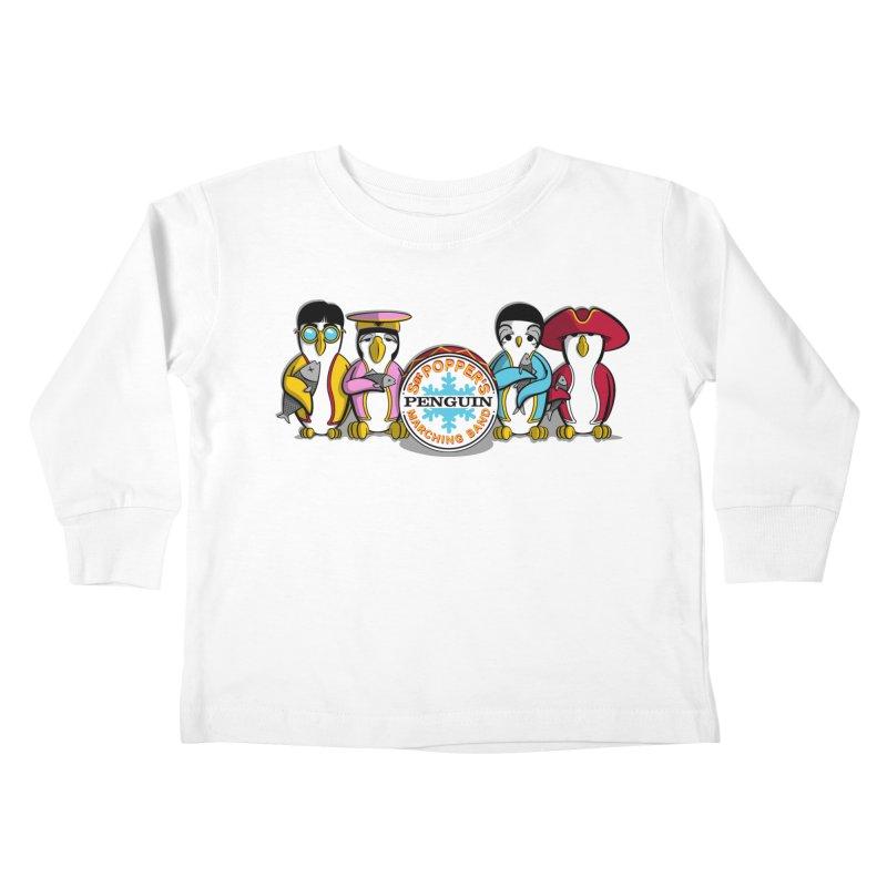 Sgt. Poppers Penguin Marching Band Kids Toddler Longsleeve T-Shirt by JVZ Designs - Artist Shop