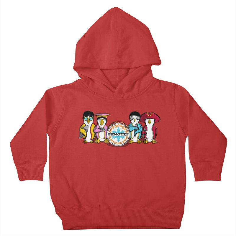 Sgt. Poppers Penguin Marching Band Kids Toddler Pullover Hoody by JVZ Designs - Artist Shop