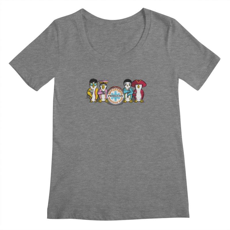 Sgt. Poppers Penguin Marching Band Women's Scoopneck by JVZ Designs - Artist Shop