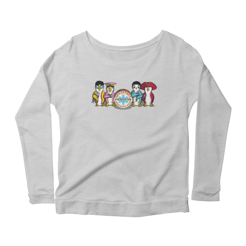 Sgt. Poppers Penguin Marching Band Women's Longsleeve Scoopneck  by JVZ Designs - Artist Shop