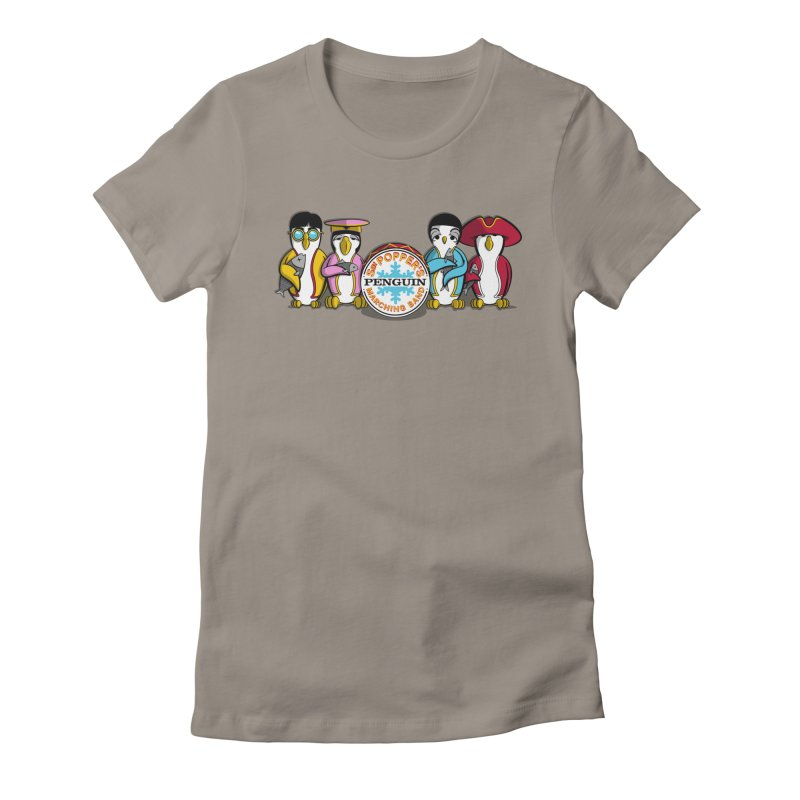 Sgt. Poppers Penguin Marching Band Women's Fitted T-Shirt by JVZ Designs - Artist Shop