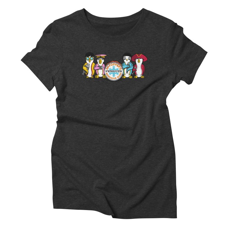 Sgt. Poppers Penguin Marching Band Women's Triblend T-shirt by JVZ Designs - Artist Shop