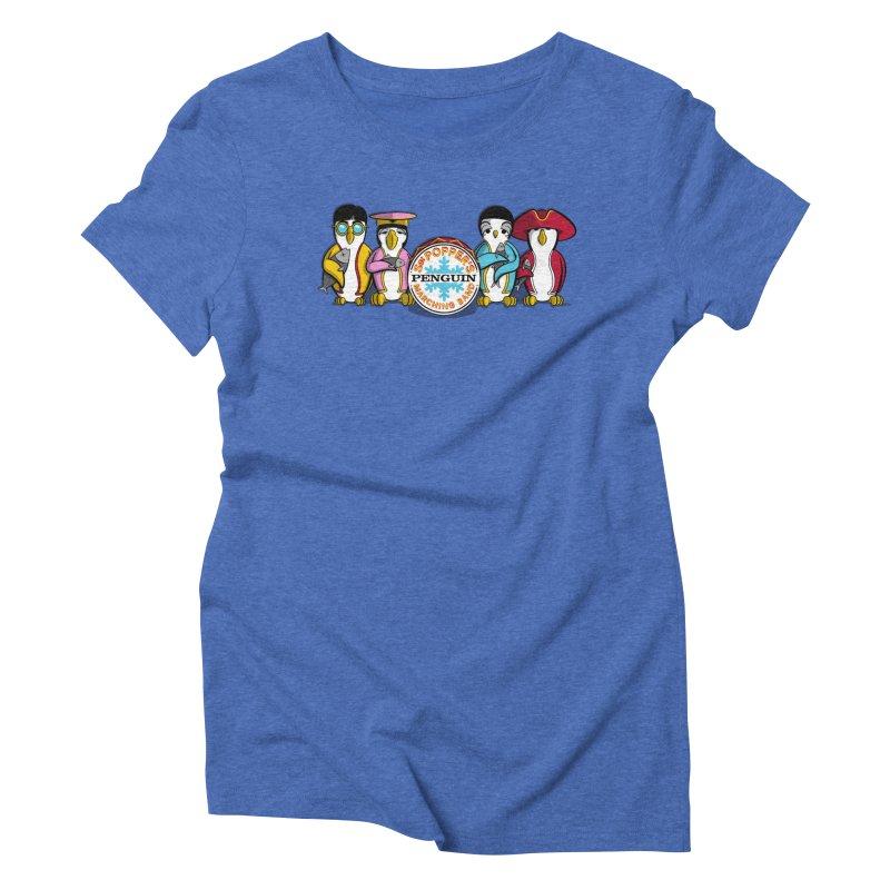 Sgt. Poppers Penguin Marching Band Women's Triblend T-Shirt by JVZ Designs - Artist Shop