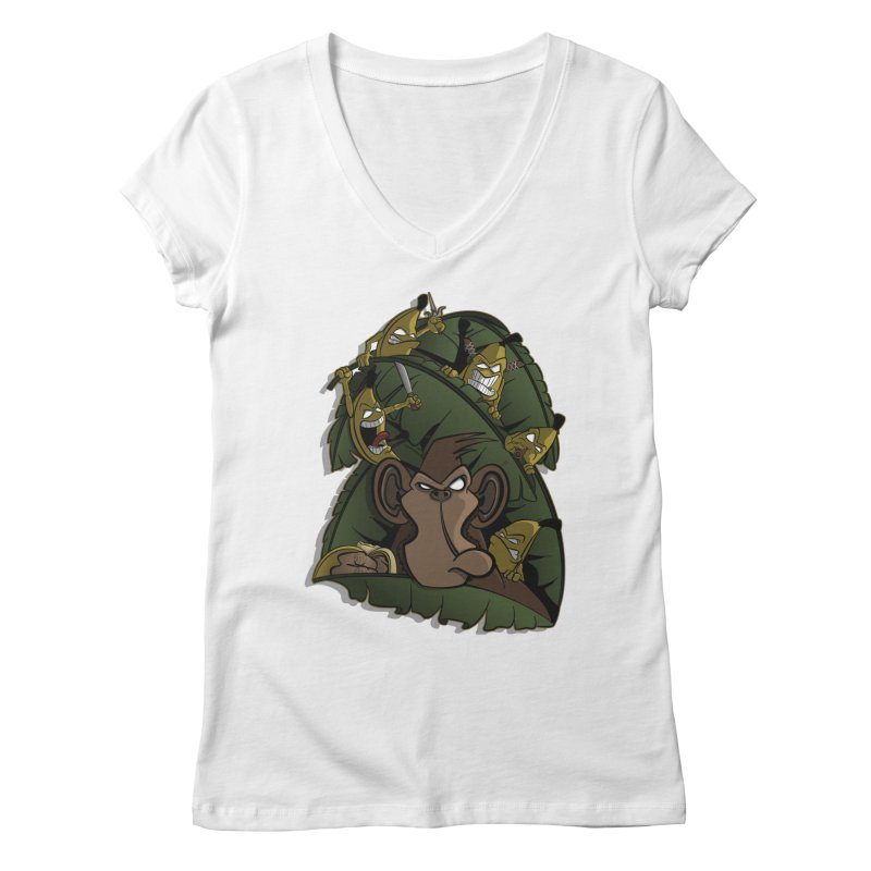 Revenge Women's V-Neck by JVZ Designs - Artist Shop