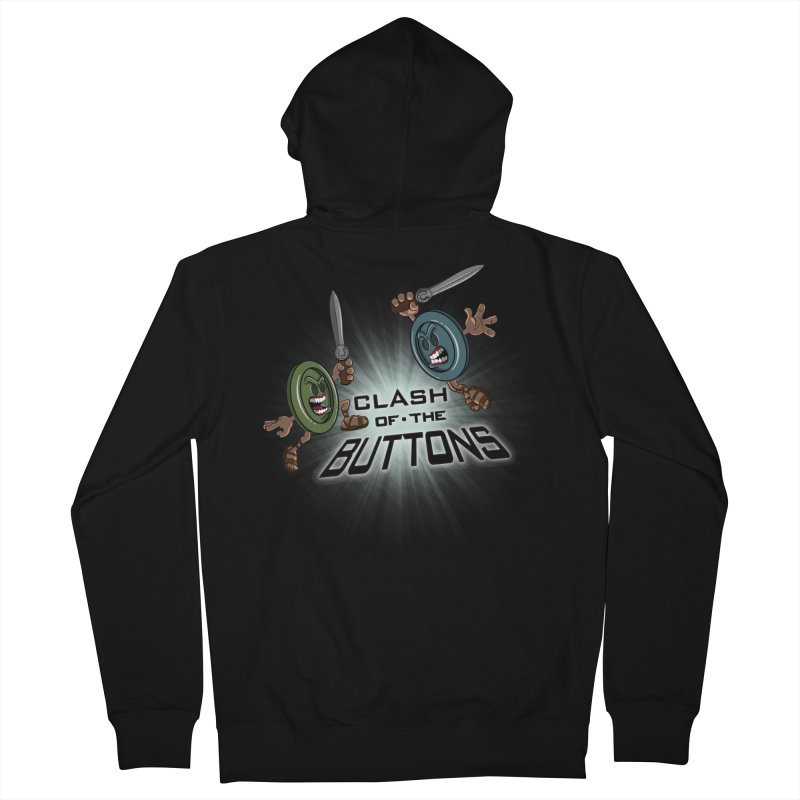 Clash of the Buttons Men's Zip-Up Hoody by JVZ Designs - Artist Shop