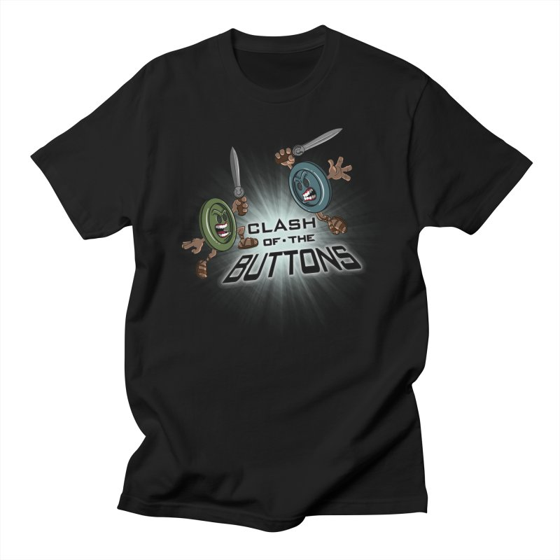 Clash of the Buttons Men's T-shirt by JVZ Designs - Artist Shop