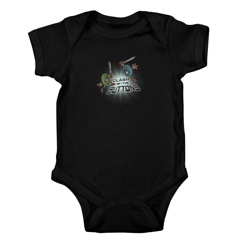 Clash of the Buttons Kids Baby Bodysuit by JVZ Designs - Artist Shop
