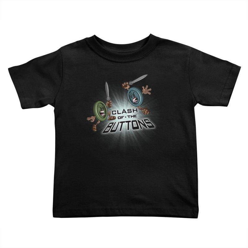 Clash of the Buttons Kids Toddler T-Shirt by JVZ Designs - Artist Shop