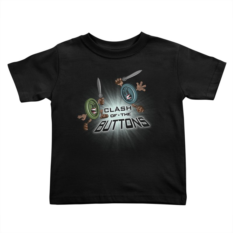 Clash of the Buttons Kids Toddler T-Shirt by JVZ Designs - Artist Shop