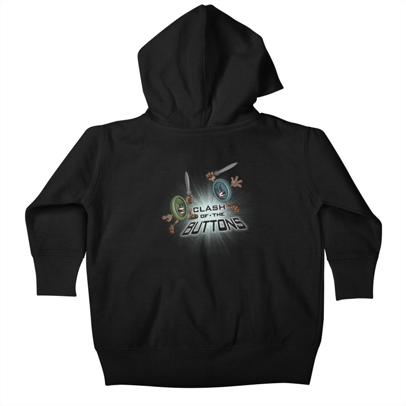 Clash of the Buttons Kids Baby Zip-Up Hoody by JVZ Designs - Artist Shop
