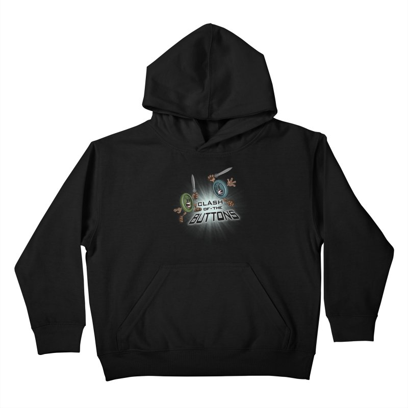 Clash of the Buttons Kids Pullover Hoody by JVZ Designs - Artist Shop