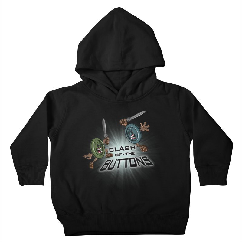 Clash of the Buttons Kids Toddler Pullover Hoody by JVZ Designs - Artist Shop