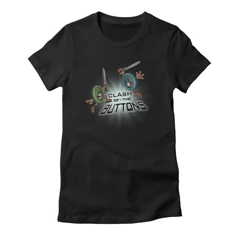 Clash of the Buttons Women's Fitted T-Shirt by JVZ Designs - Artist Shop