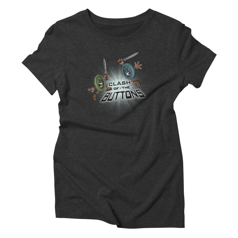 Clash of the Buttons Women's Triblend T-shirt by JVZ Designs - Artist Shop