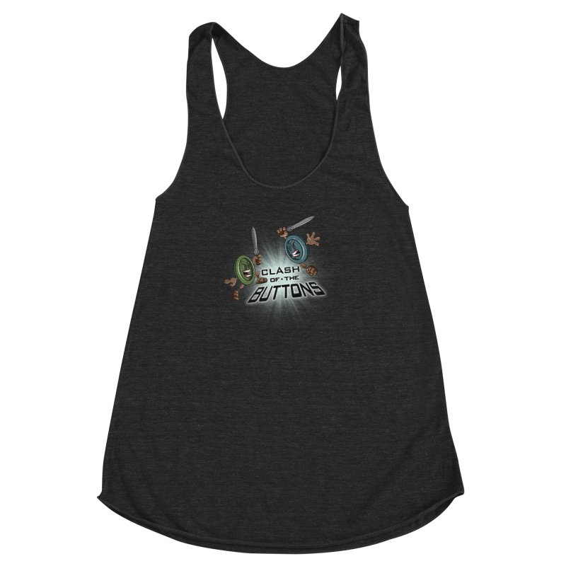 Clash of the Buttons Women's Racerback Triblend Tank by JVZ Designs - Artist Shop