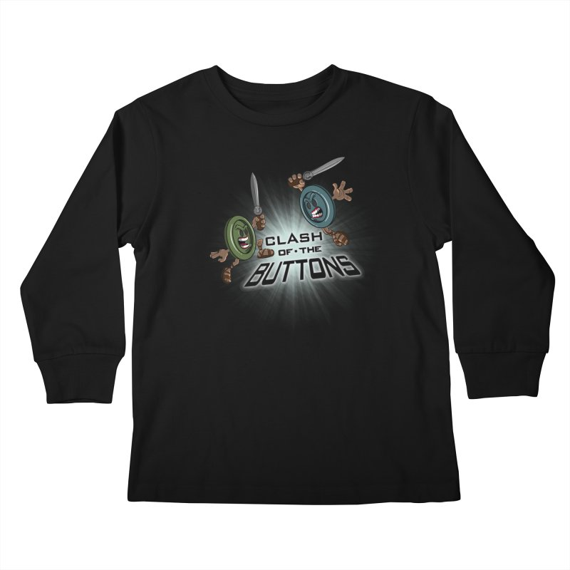 Clash of the Buttons Kids Longsleeve T-Shirt by JVZ Designs - Artist Shop
