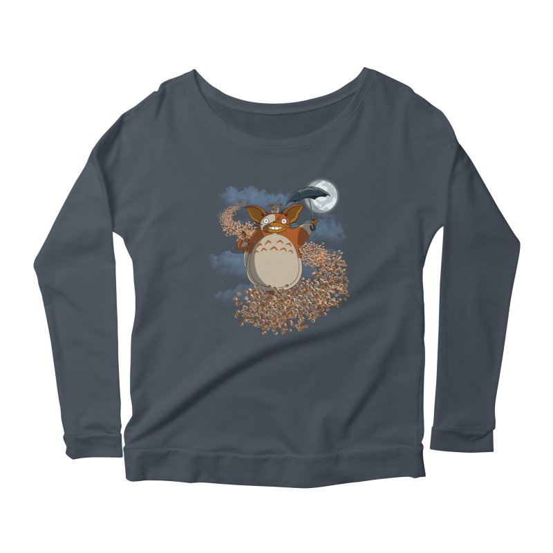 My Mogwai Gizmoro Women's Longsleeve Scoopneck  by JVZ Designs - Artist Shop