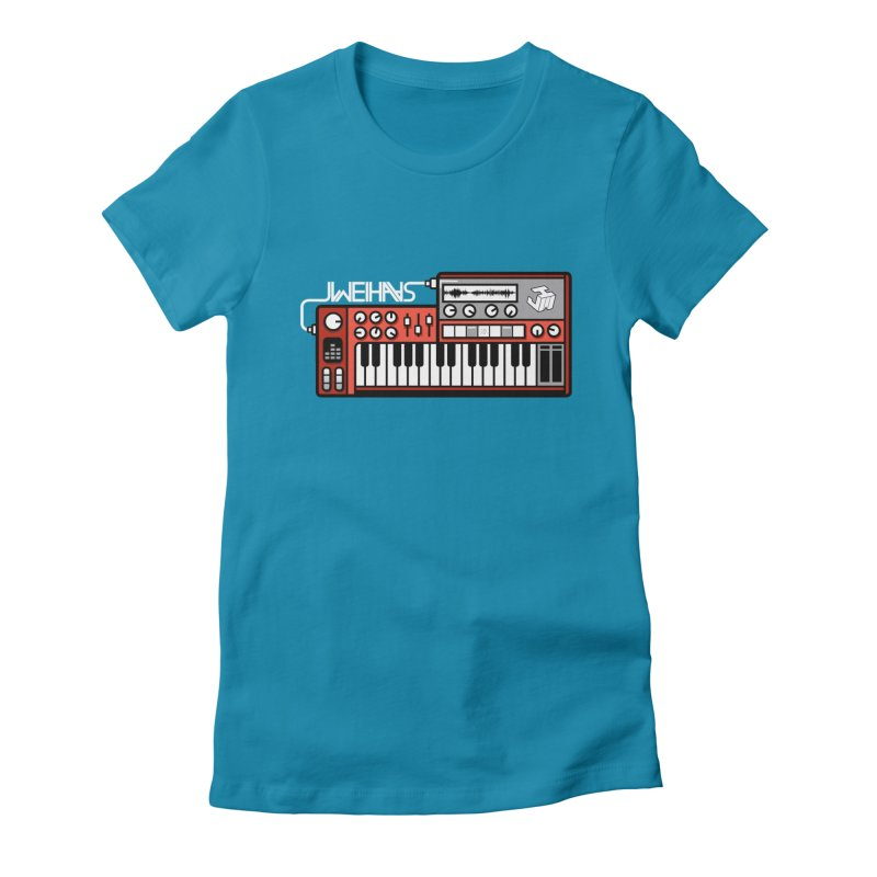WEIHAASOME SYNTHESIZER 2 Women's Fitted T-Shirt by WEIHAASOME SHIRTS