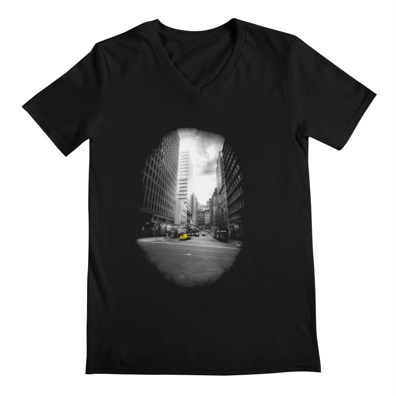 I could be anywhere in the world Men's V-Neck by jwoof's Artist Shop